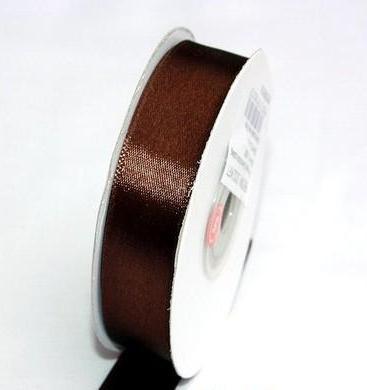 Szatén szalag csokibarna (HS-1086)-(3,8 cm * 22 m)