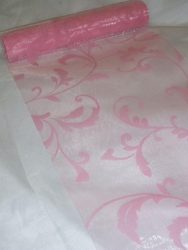inda mintás rózsaszín alapon rózsaszín organza (47 cm   5 m ... b120304161