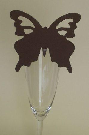 pillangó ültetőkártya barna (10 db)