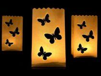 Party mécses tasak pillangós (10 db)