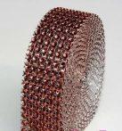 strasszos dekorszalag 3 cm *4,5 m - barna