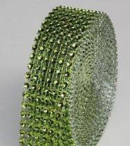 strasszos dekorszalag 3 cm *4,5 m - zöld