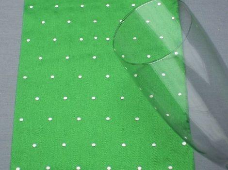 Szatén futó, gyémántos (12 cm 4,5 m)élénkzöld