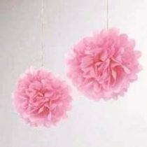 papír gömb / pom-pom (25 cm átmérő )rózsaszín