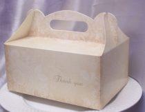 sütis doboz 19x14x9 cm, thank you felírattal
