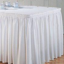 Asztalszoknya dekorselyem (450 cm * 75 cm) fehér