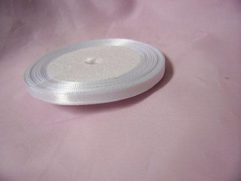 0,6 cm-s szatén szalag (25 m) fehér