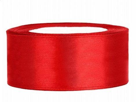 2,5 cm-s szatén szalag (25 m) piros