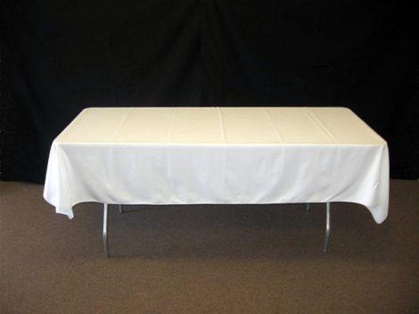 Fehér textil asztalterítő (1,5 m x 2 m)-szegetlen