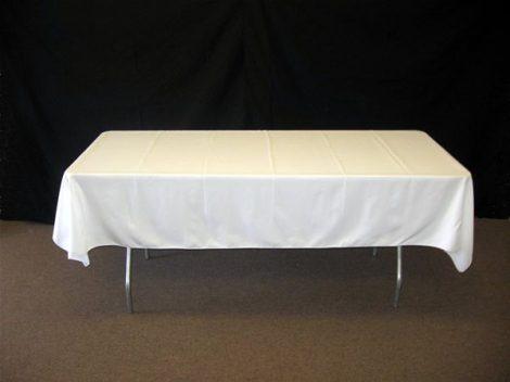 Fehér textil asztalterítő (5 m x 1,5 m)-szegetlen