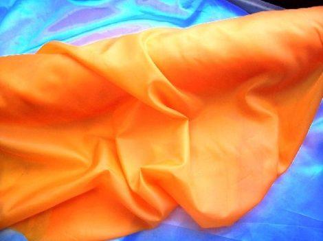 élénk napsárga selyem dekoranyag 150 cm széles (méterre)