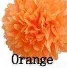 papír gömb / pom-pom (37 cm átmérő) narancs