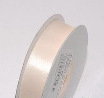 Szatén szalag ekrü (HS-074)-(0,6 cm * 22 m)
