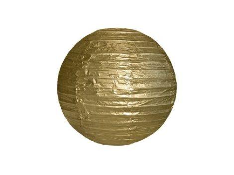 papír gömb lampion , 35 cm, arany