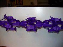 hálós girland 4 m-es lila