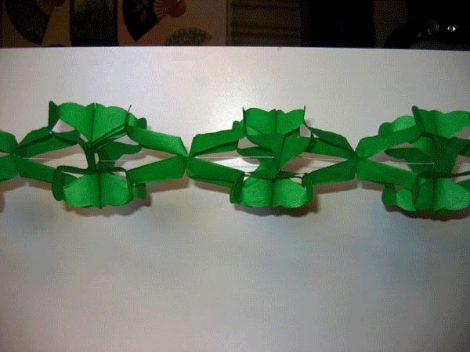 hálós girland 4 m-es zöld
