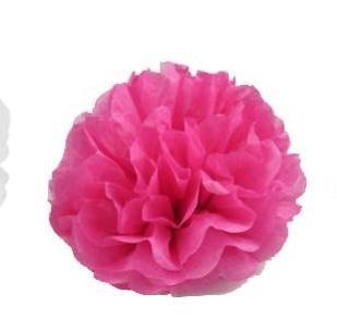 papír gömb / pom-pom (37 cm átmérő ) pink