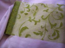 inda mintás zöld(moha) organza (24 cm * 5 m)
