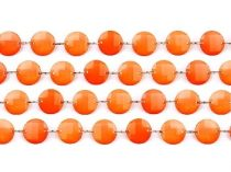 Kristály girland narancs (1 m)