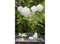 Lampion gömb világító, fehér (30 cm)