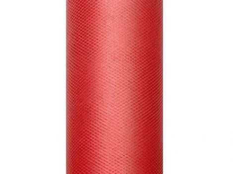 tüll dekoranyag, piros (007)- 30 cmx9 m, puha