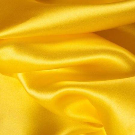 Szatén selyem napsárga (150 cm széles)