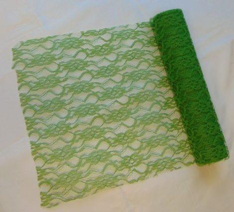 Csipke dekoanyag zöld - 048 (29 cm * 5 m)