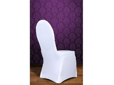 Elasztikus, spandex székhuzat, fehér