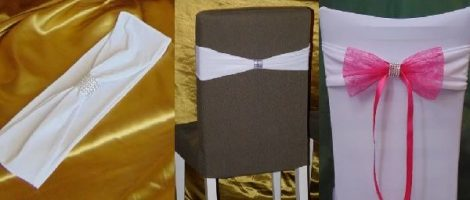elasztikus/spandex székszoknya masni fehér