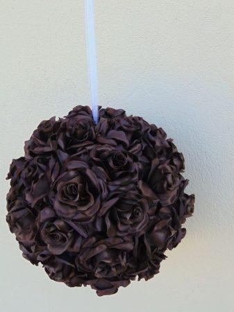rózsagömb óriás szatén barna (35 cm)