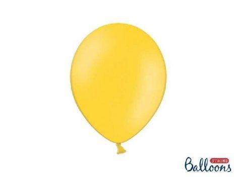 pasztel lufi 12 cm - 009 sárga