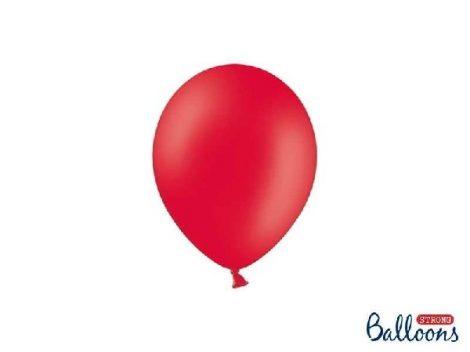 pasztel lufi 27 cm -007 piros 50db