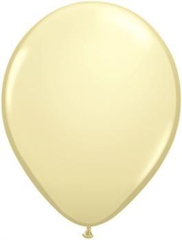 pasztel lufi 27 cm - 079j krém 50db