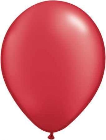metál lufi 30 cm - 007j piros 25db