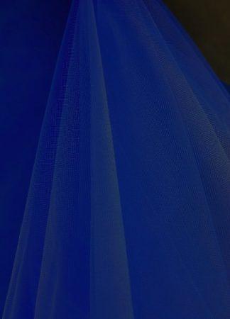 Tüll dekoranyag (1,5 m széles) sötétkék/ tengerészkék
