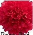 papír gömb / pom-pom (25 cm átmérő ) piros