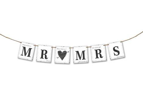 Mr. és Mrs. betűfüzér (77 cm hosszú)