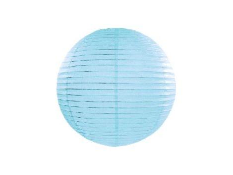 papír lampion világoskék (35 cm)