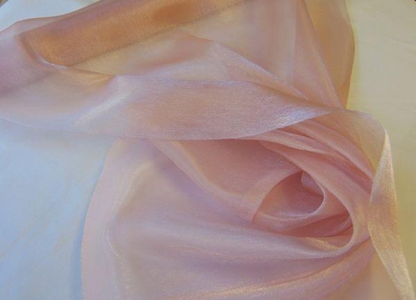 Szatén-organza (47 cm x 10 m) púder rózsaszín-693 - esküvő dekoráció ... 708a3854cc