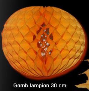 lampion gömb (30 cm) narancssárga(HW)