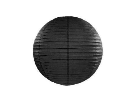 papír lampion 25 cm, fekete
