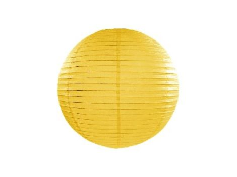 papír lampion 35 cm, sárga (084)