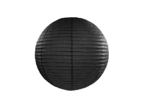 papír lampion 35 cm, fekete