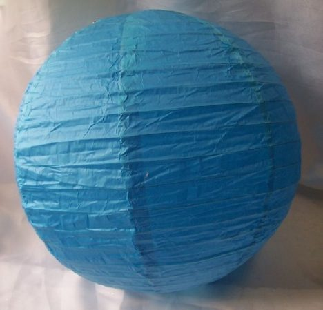 lampion gömb (30 cm) türkizkék