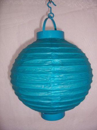 Lampion gömb világító türkizkék (20 cm)