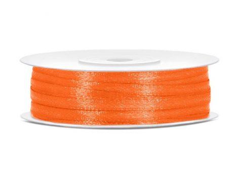 0,3 cm szatén szalag narancs(50 m)-005