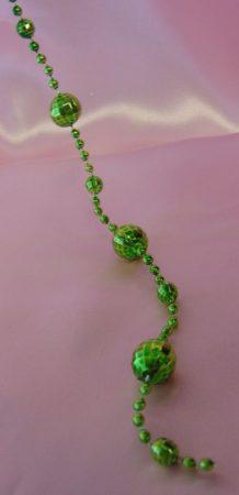 diszkó gömb girland 2,7 m, zöld