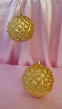 díszgömb arany 2 db-s (10 cm)