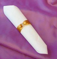 szatén szalvétagyűrű gyűrűpárral. arany 10db