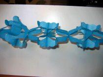 hálós girland 4 m-es kék